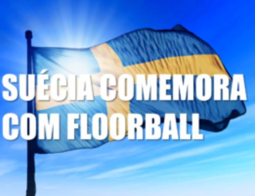 Dia Nacional da Suécia 2018 com floorball da ABF